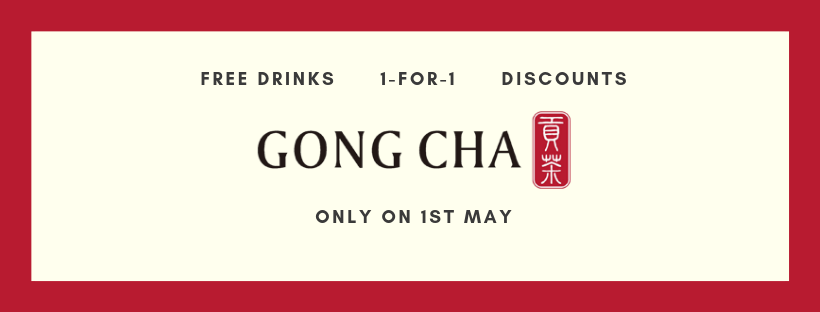 Article header with Gong Cha logo