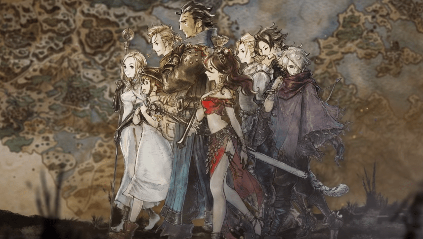 8 main heroes from the game Octopath Traveler