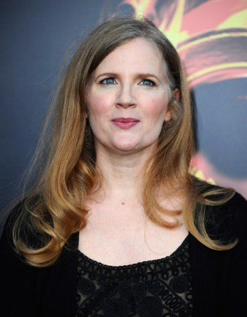 Suzanne Collins, the author of the popular novel series Hunger Games.