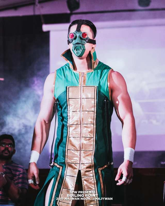 Trexxus making his entrance at SPW Boiling Point 2019 Credit to Najwan Noor (via SPW Facebook)