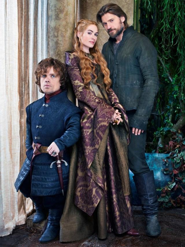 Tyrion Lannister (Peter Dinklage), Cersei Lannister (Lena Headey) and Jaime Lannister (Nikolaj Coster-Waldau) via fanpop.com