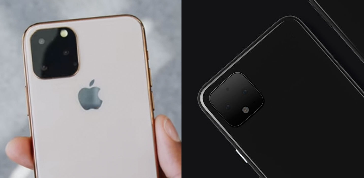 Leaked Apple's iPhone 11 and Google Pixel 4 phone designs