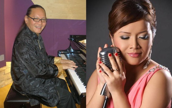 Singaporean powerhouse singer Lily Hargrove and American pianist Mario Serio. Via Esplanade.com