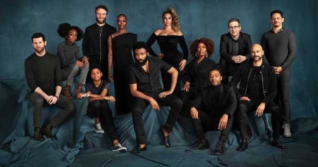 Lion King cast in Family Portrait style photo via movieweb.com