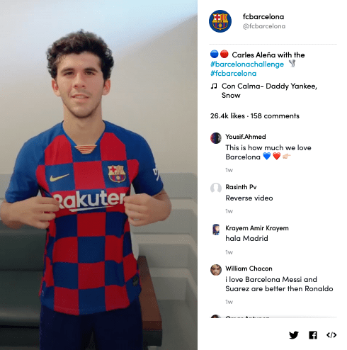 Carles Aleñá's video for #BarcelonaChallenge on TikTok