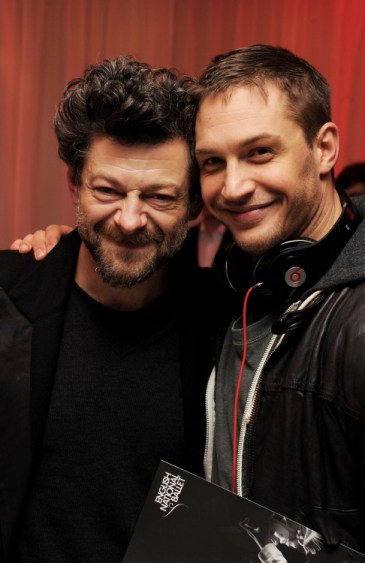 Andy Serkis and Tom Hardy at an event. via pinterest.com