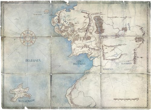 Map of Middle Earth featuring Numenor via Amazon's LOTR series Twitter (@LOTRonPrime)