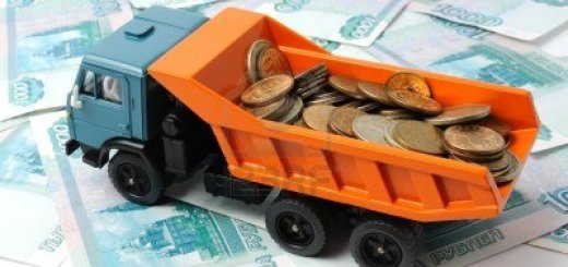 truck with coins