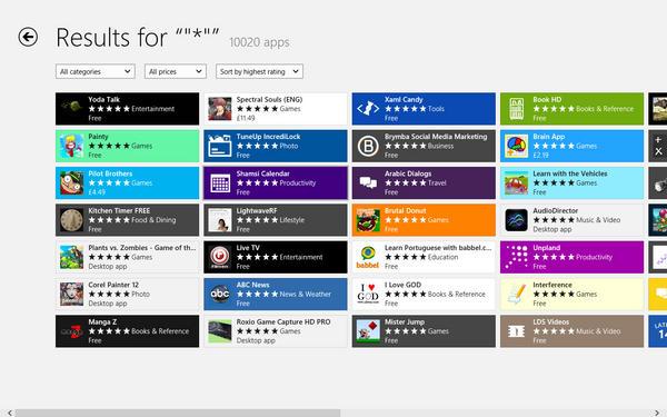 WIndows App Store Count
