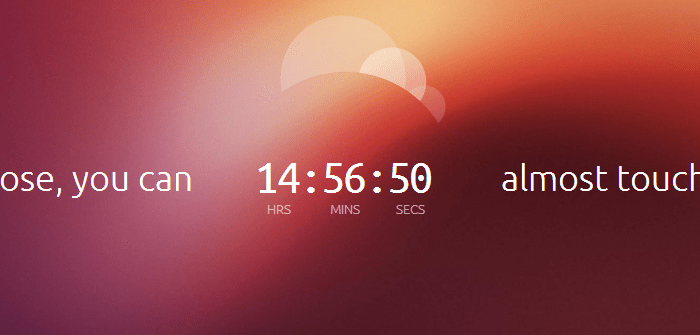 Ubuntu Teaser Shows Jan 2 Launch, Hints aTouch-Based OS