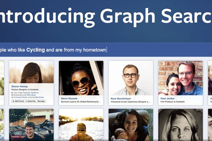Facebook Launches Graph Search - A Social Search Tool