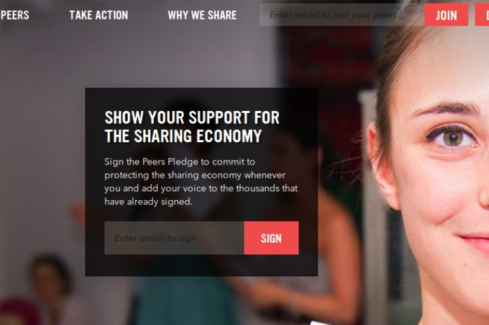 Peers, AirBnB, Uber and Lyft want you to Support the Sharing Economy