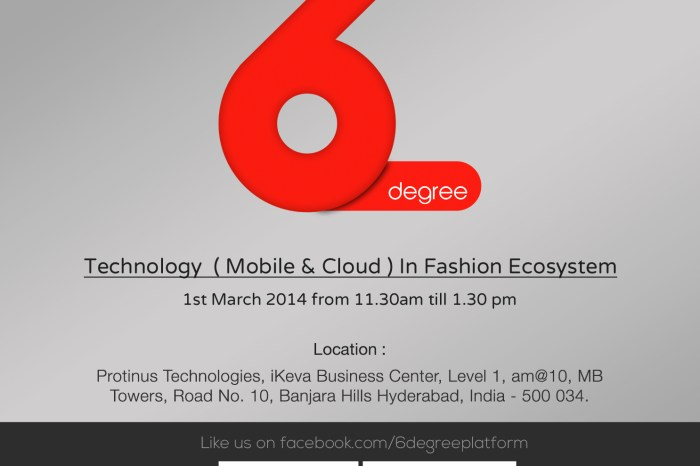 Technology (Mobile & Cloud) in Fashion - A Hyderabad Event by Protinus Technologies on March 1st