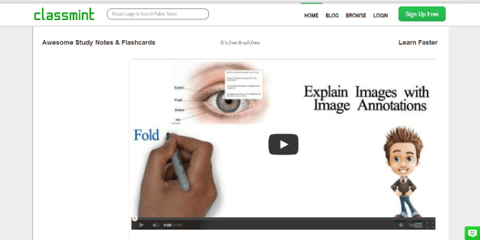Classmint homepage