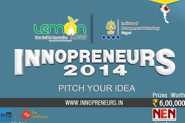 An Idea-Project national level competition, Innopreneurs-2014 kicks off, Feb 25th Last Date to Register
