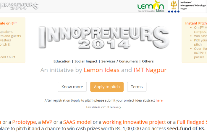 Innopreneurs gets 150+ Ideas so far, Last date for registration is 26th Feb