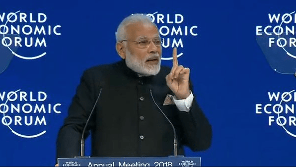 India given pole position at Davos 2018