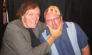 "Hollywood legend Richard Kiel (James Bond, Star Trek, Twilight Zone etc.) with ""Guru of Geek"" Marlo Anderson."