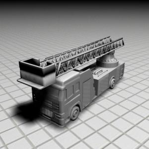 Fire Truck drawing available for 3D Printing at PhysibleTemplates.com