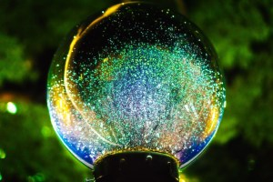 light ball, looking to the future, technology advances