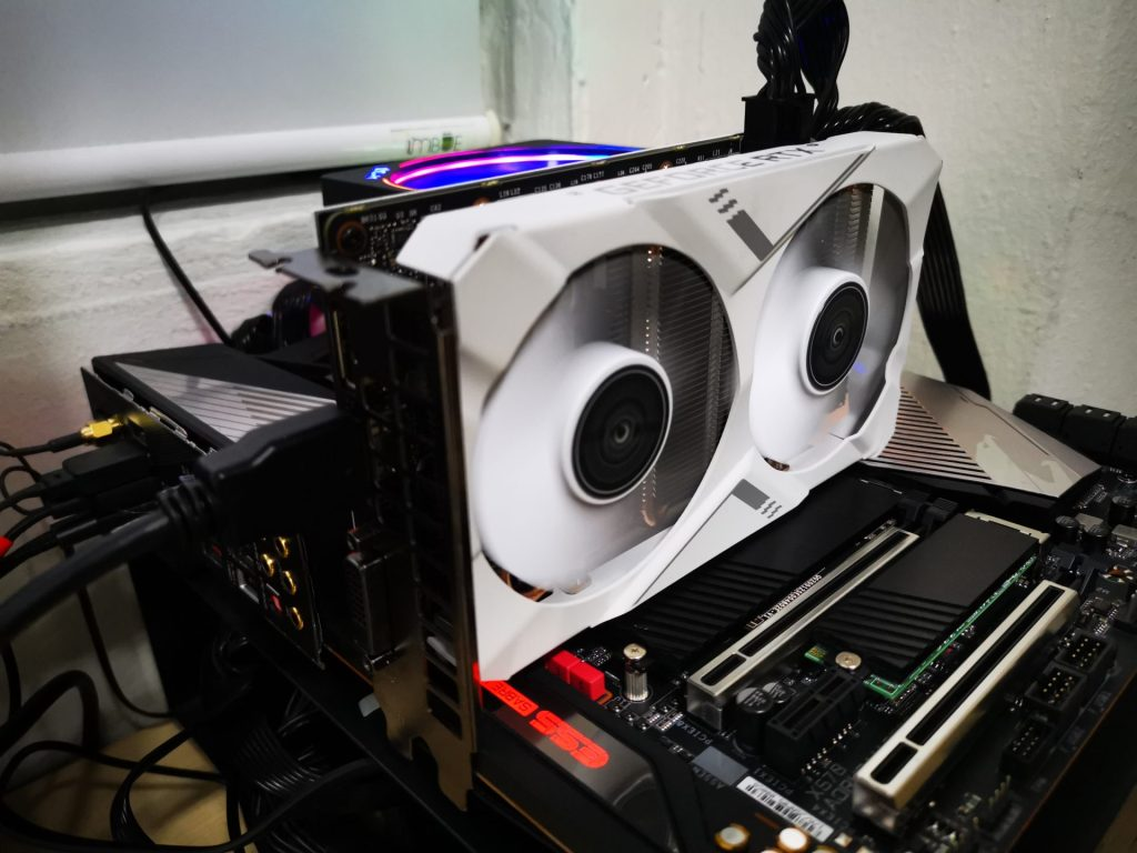 GALAX GeForce RTX 2070 White Mini 1-Click OC Graphics Card