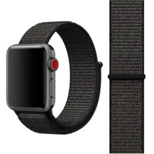 Apple Watch 38mm / 40mm Armband Svart Nylon