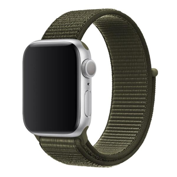 Apple Watch 42mm / 44mm Armband Grön Nylon