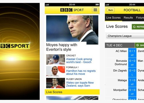 BBC Sport Launches Mobile App; Android App to Follow
