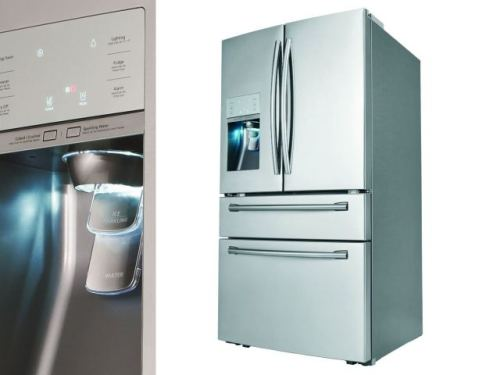 Siri is Sure To Find Samsung's Four-Door Refrigerator with Sparkling Water Dispenser Exciting