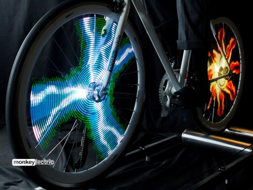 Monkey Light Pro Allows you to Display Semi-transparent Images on Your Bike Wheel