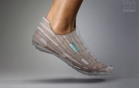 DNA 3D printed shoe concept by pensar