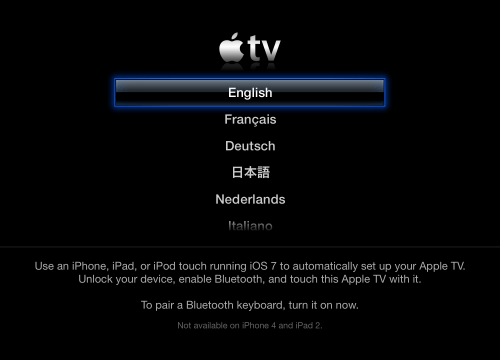 You Can Now Set Up Apple TV With iOS 7 Devices Using Bluetooth LE