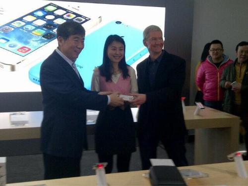 Tim Cook Questioned About Larger iPhone; Says Great Thing To Come