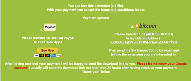 Download Taifun Extension