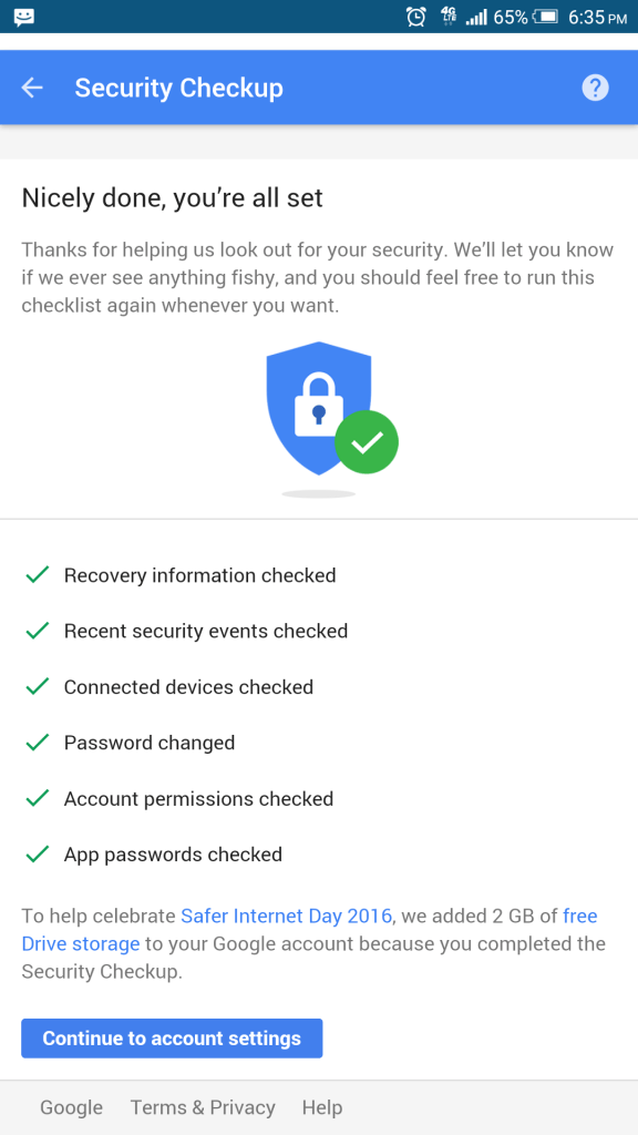 Google Drive Free 2 GB