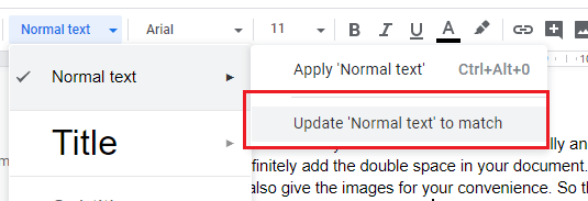 How to Remove extra space in Google Docs