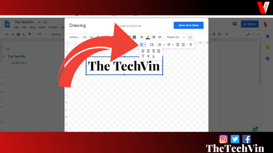 adding a text box in google docs