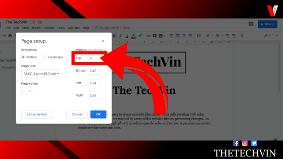 How to Remove Header In Google Docs
