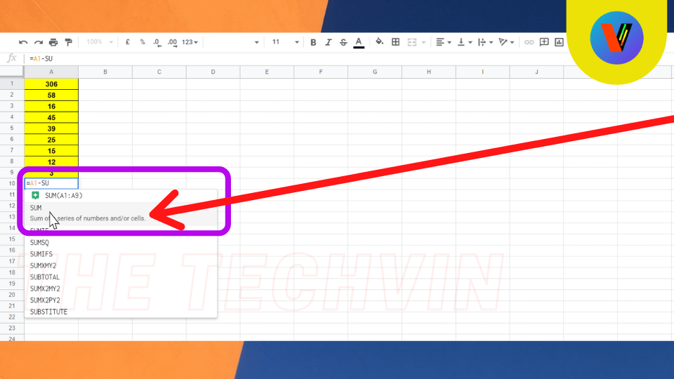 How to Minus multiple cells in google sheets