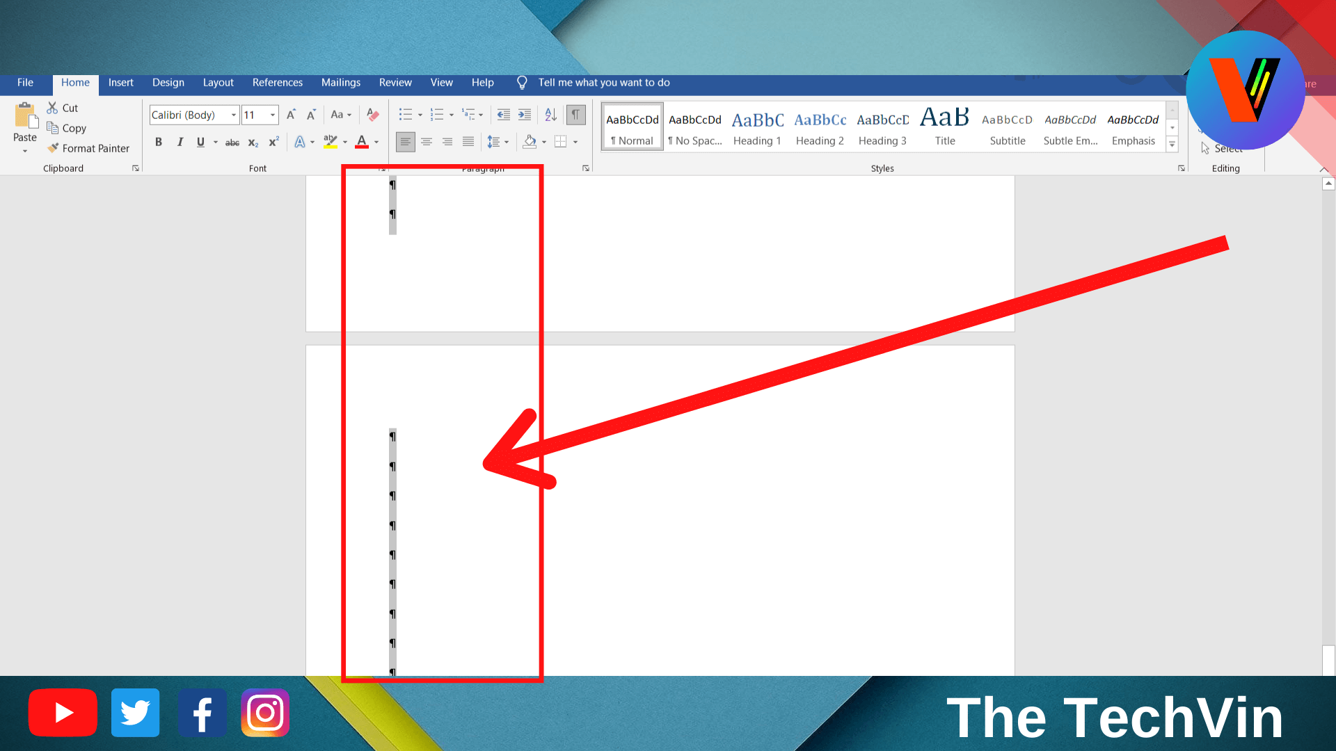 highlight the extra or unwanted page
