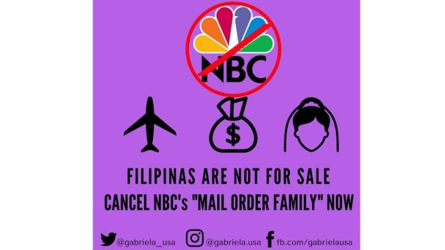 poster protesting nbc show mail order family