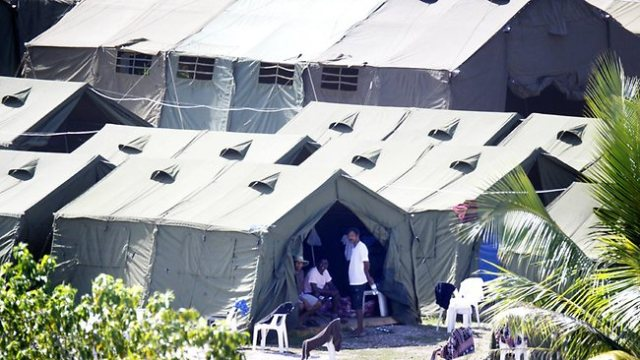 Asylum seekers Nauru tents