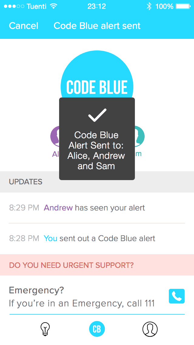 Code Blue App Screenshot