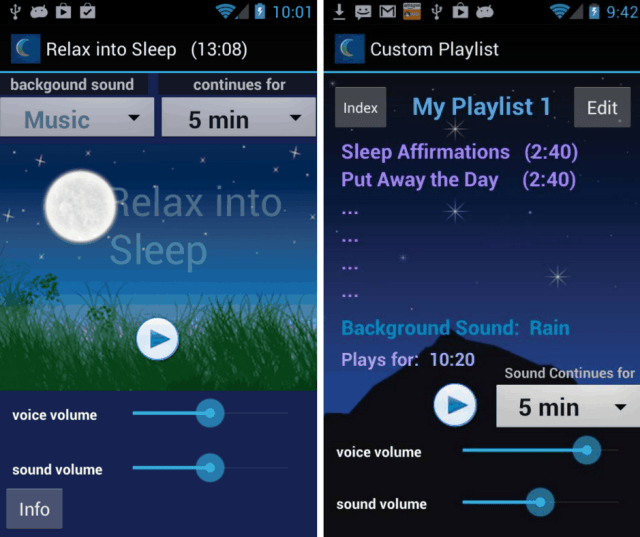 iSleep Easy App Screenshot