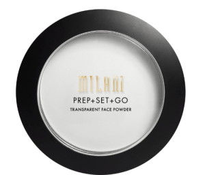 [Image description: Milani's Prep + Set + Go Translucent Powder on a white background] via milanicosmetics.com