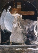 Σπουδή Αρχαγγέλου για τον Θρίαμβο της Θρησκείας, λάδι σε μουσαμά, 91x69 εκ., Εθνική Πινακοθήκη