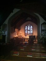 The nave with Victorian addition at the end - mind the step!