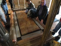 The slab where Jesus was laid out before burial
