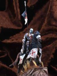 Templar on horseback