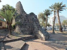The destroyed walls of Tiberias